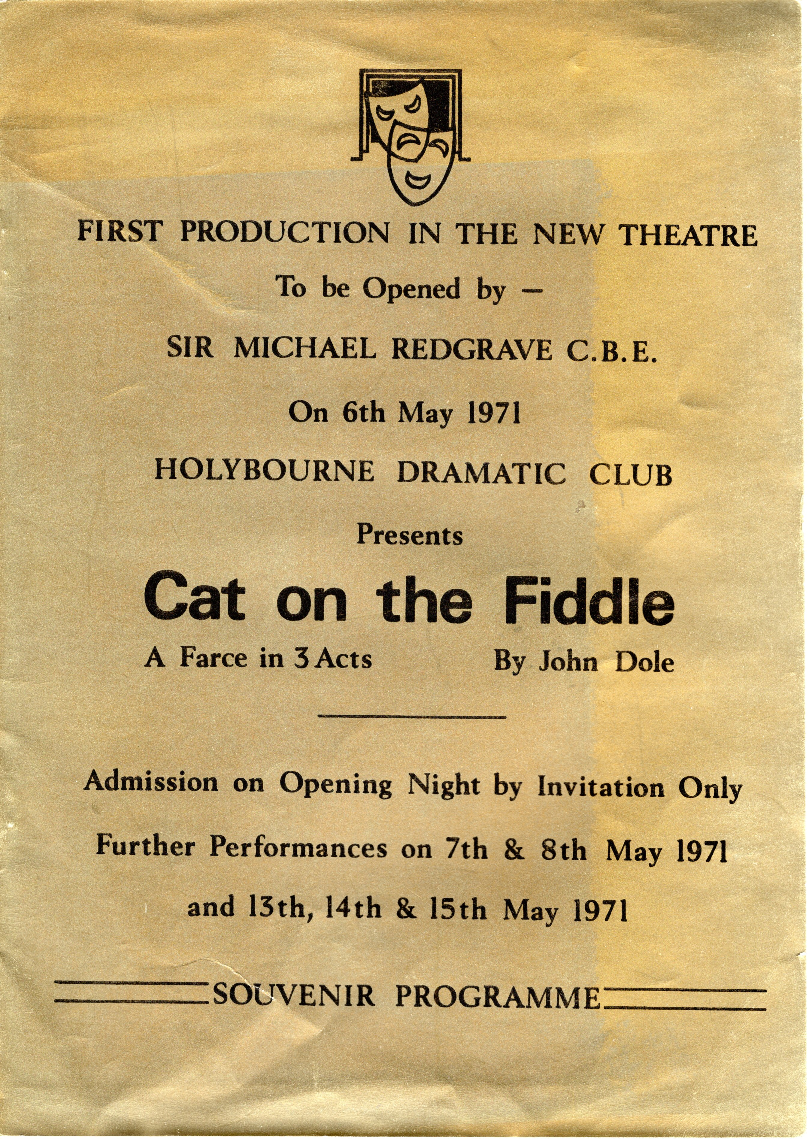 May 1971 Opening night arrives